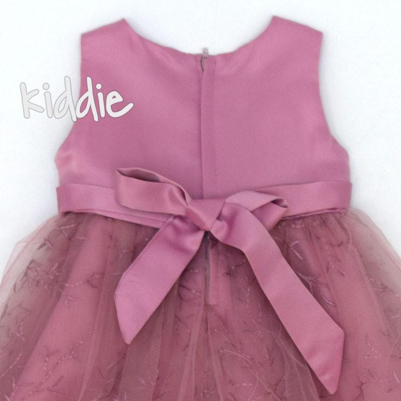 Бебешка рокля с бродиран тюл