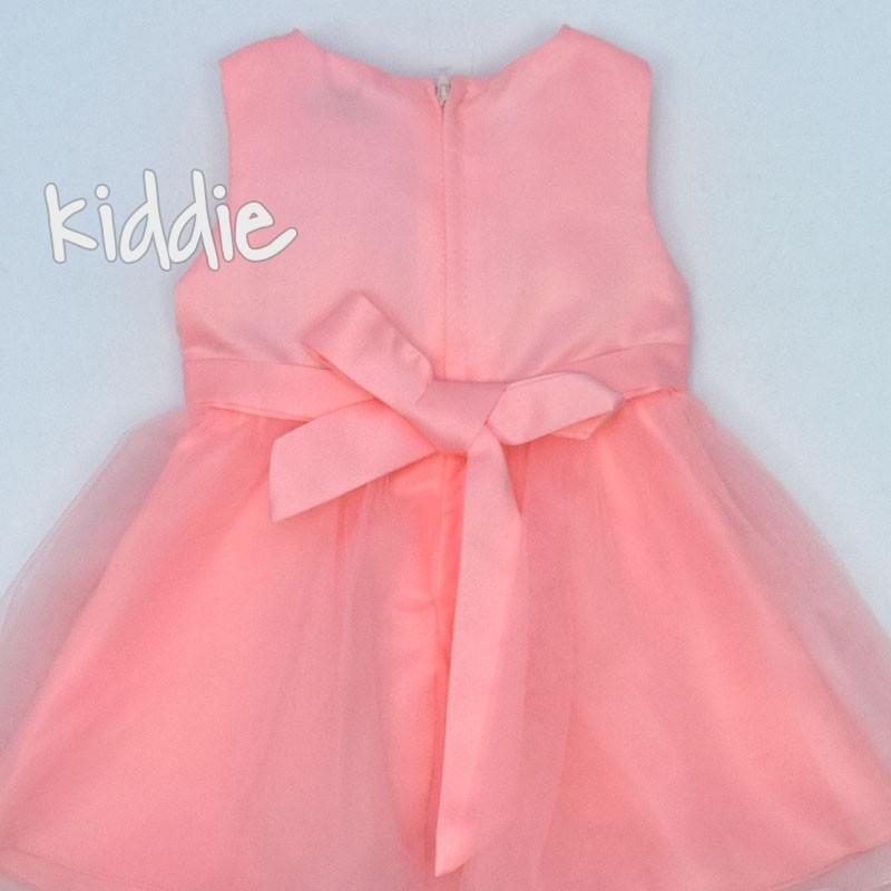 Бебешка рокля с дантела и тюл