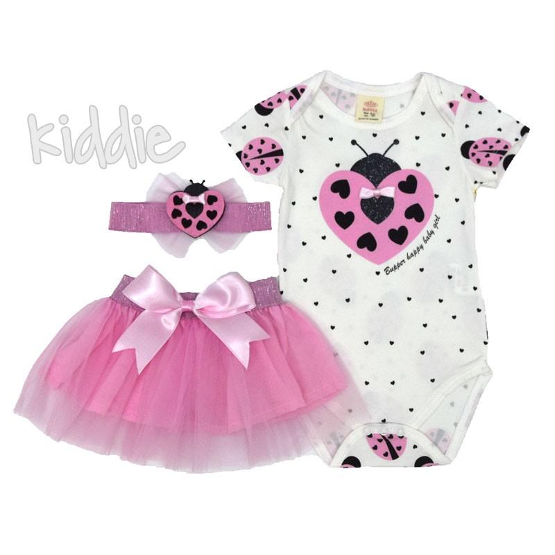 Бебешки комплект Bupper с боди и пола