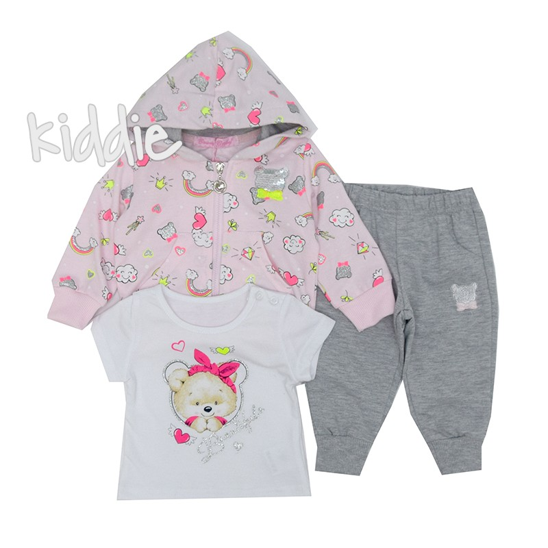 Бебешки комплект Beautiful Bouny Baby за момиче 3 части