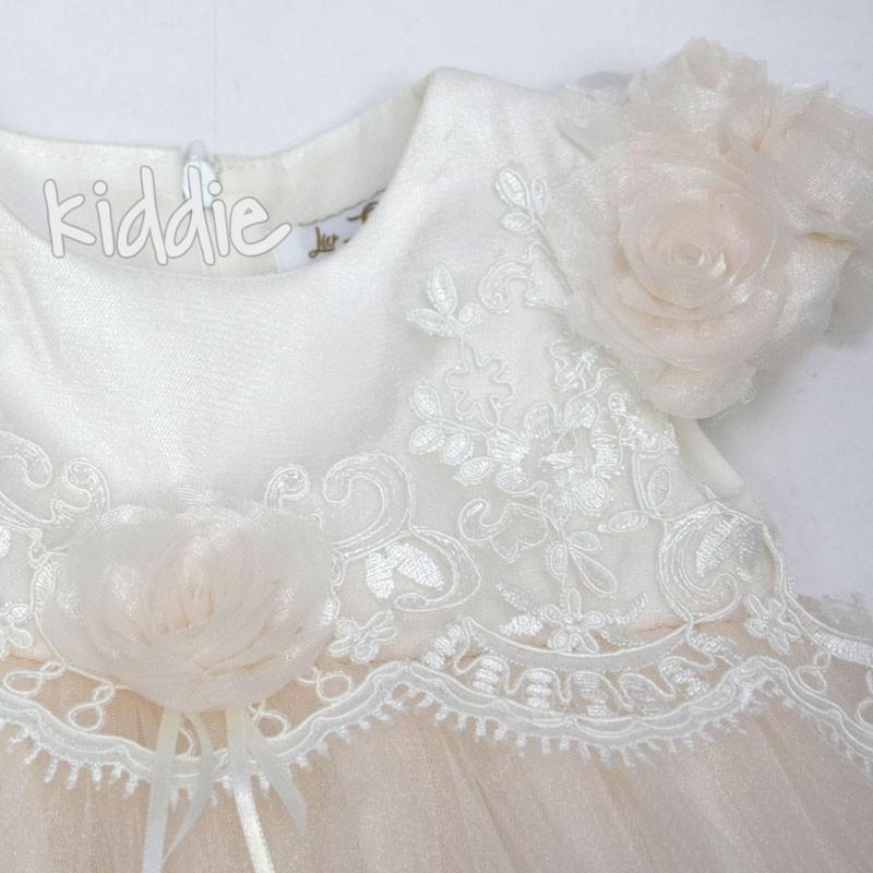 Бебешка рокля с лента за глава