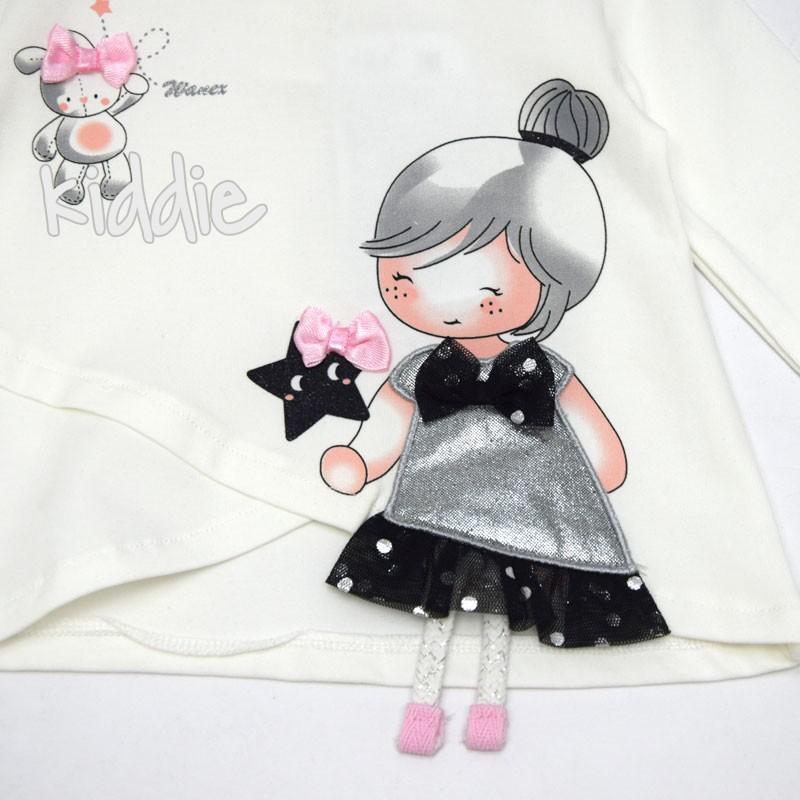 Бебешка блуза Wanex за момиче с черна звезда