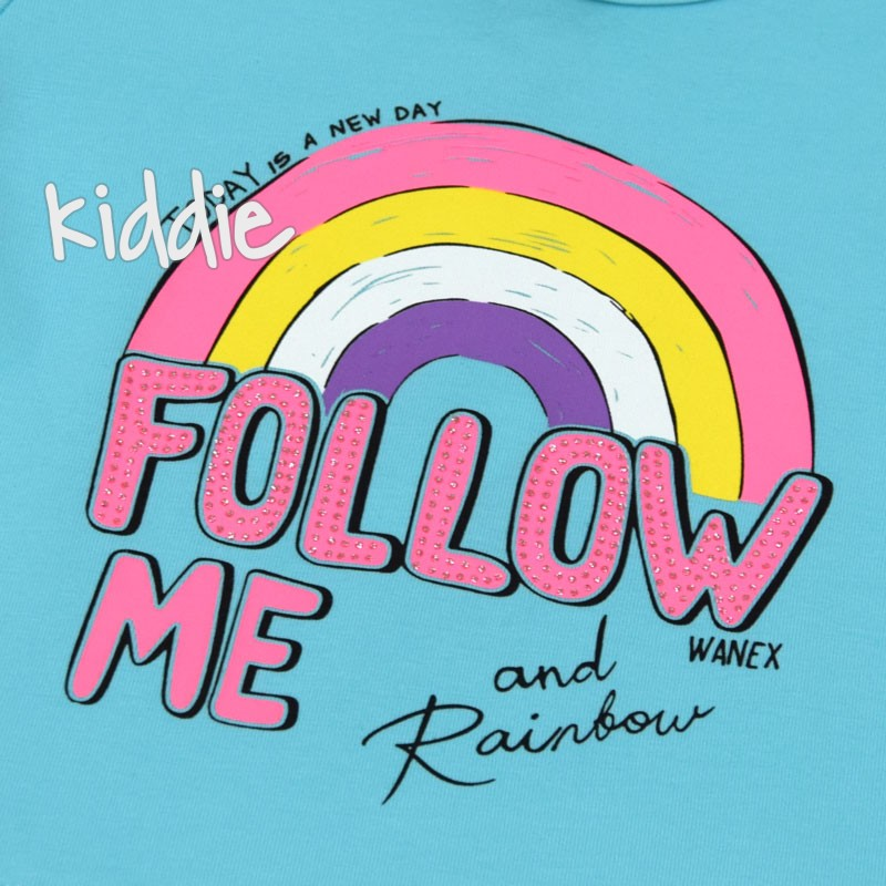 Бебешка блуза Wanex Follow me за момиче
