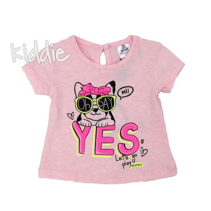 Бебешка тениска Wanex Yes за момиче
