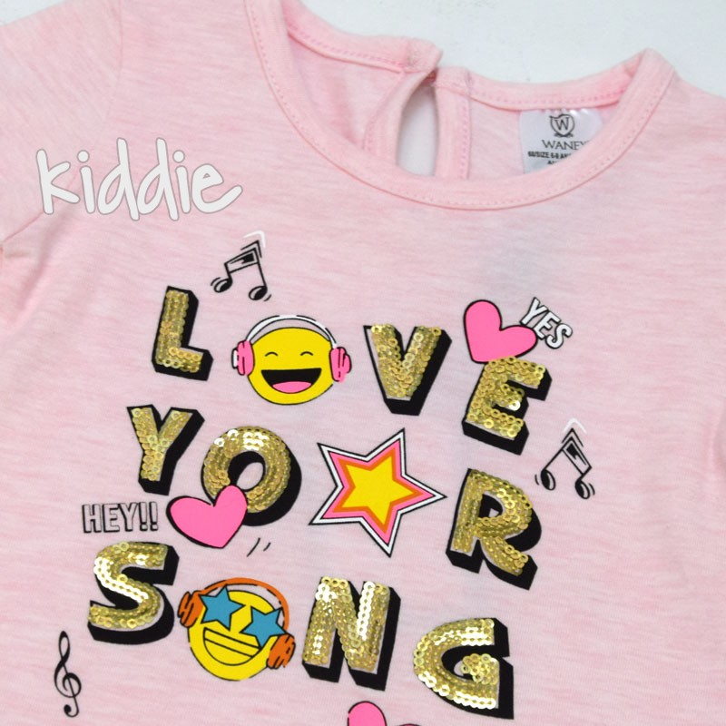 Бебешка блуза Wanex Love your song за момиче