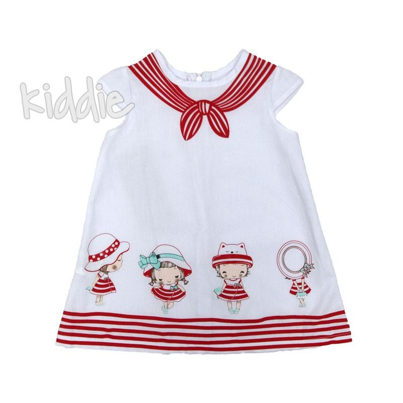Бебешка рокля Sermino с моряшка щампа