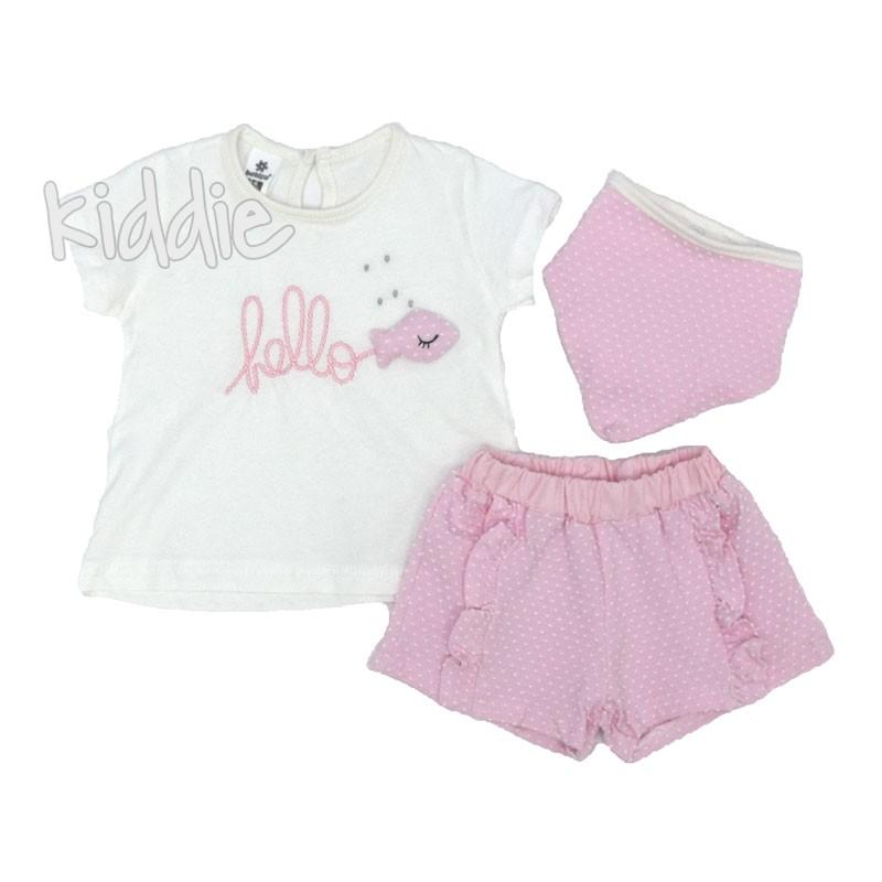 Бебешки комплект Bebico Hello за момиче