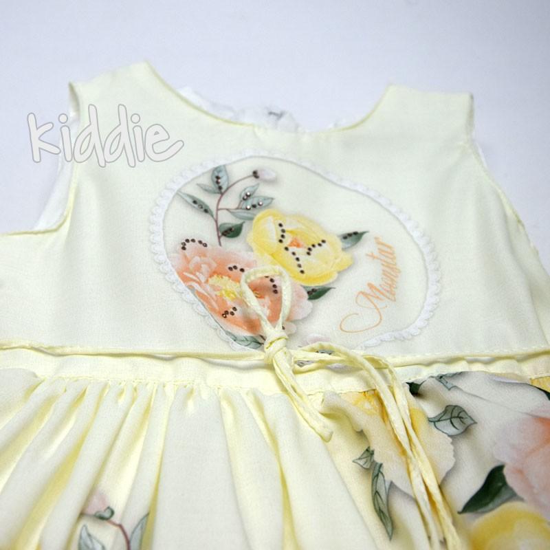 Детска рокля Moonstar с раница на рози