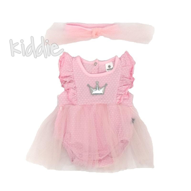 Бебешко боди-рокля Bebico с лента за коса