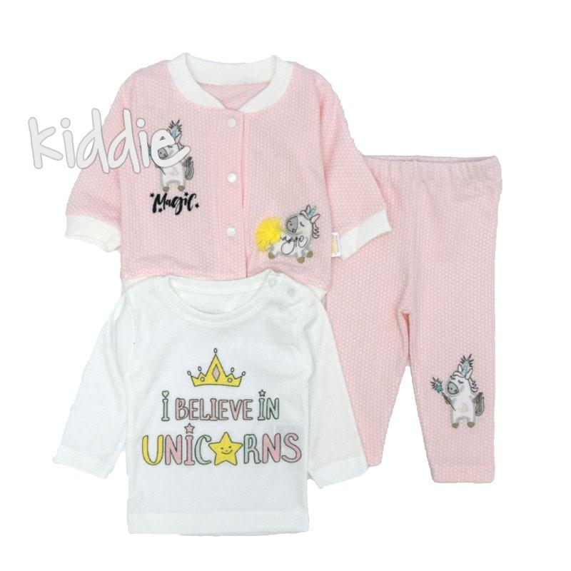 Бебешки комплект Believe in Unicorns за момиче