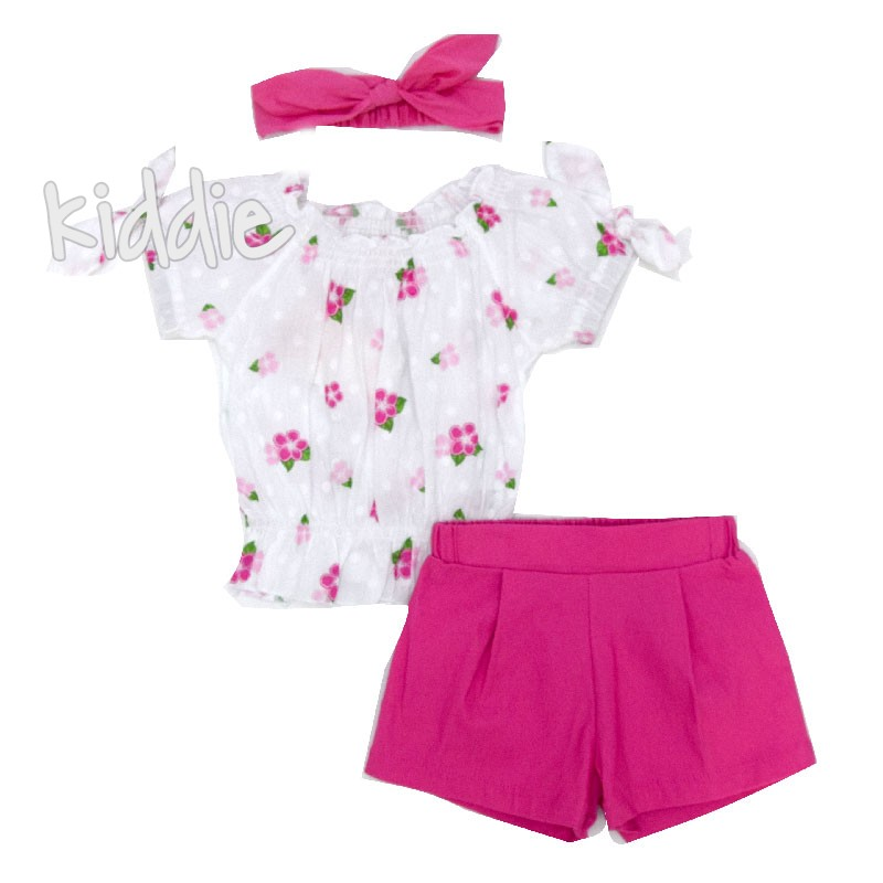 Бебешки комплект Repanda 3 части за момиче