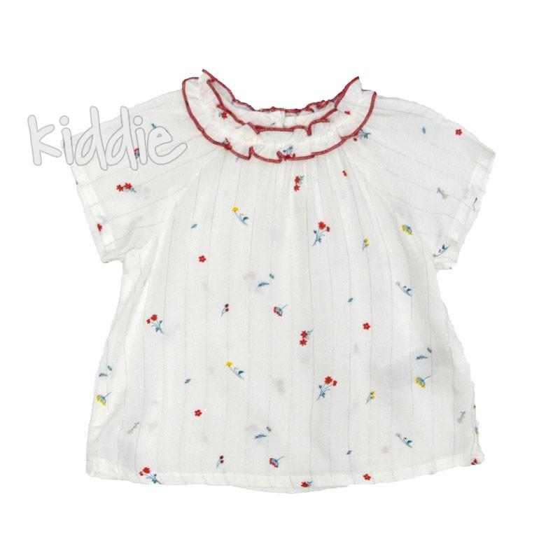 Бебешка блуза Cikoby с къдричка на бието