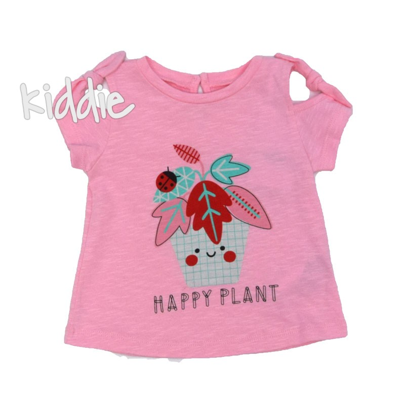 Бебешка тениска Cikoby Happy Plant за момиче