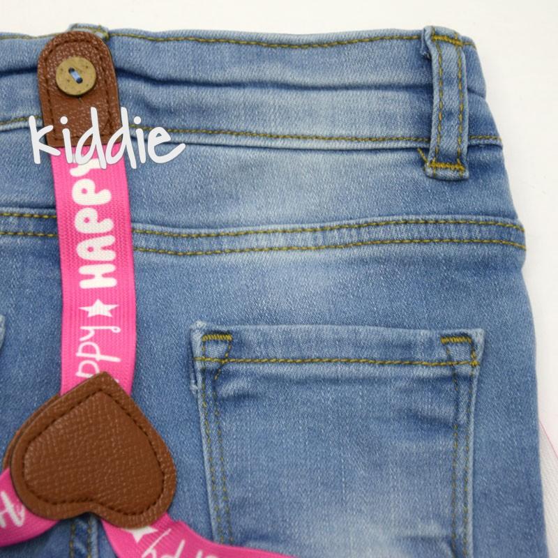 Бебешки къси дънкови панталони Cikoby за момиче