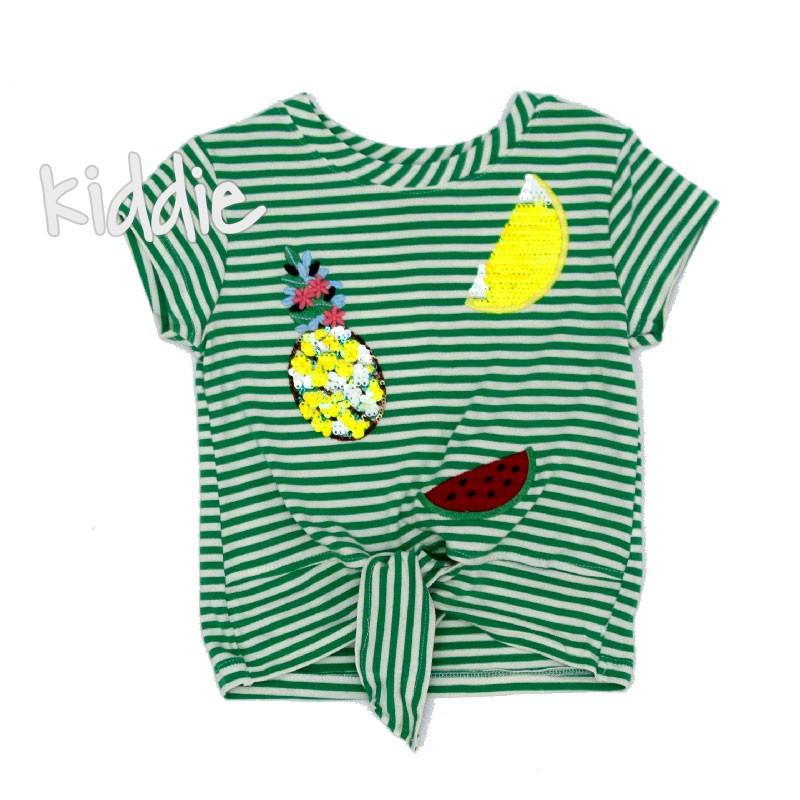 Бебешка тениска Cichlid за момиче с ананас