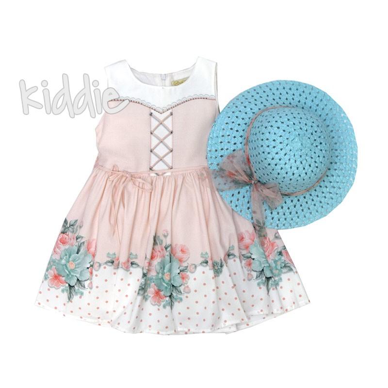 Детска рокля Moonstar с шапка и цветя