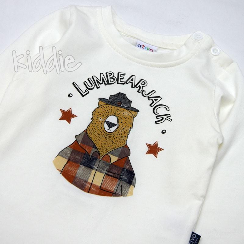 Бебешка блуза Lumbear Jack Ativo за момче