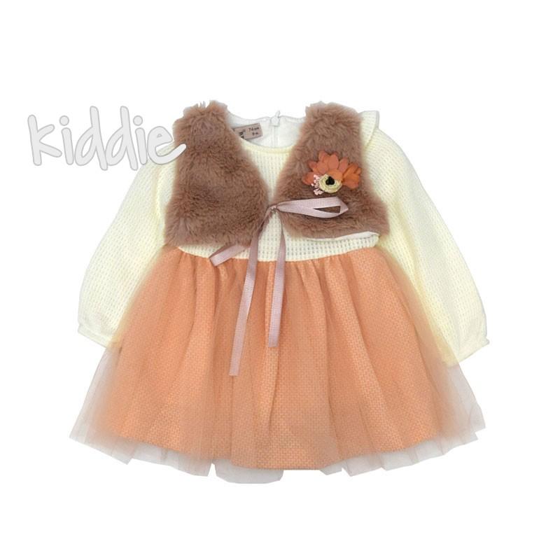 Бебешка рокля Noy Noy с имитация на елек