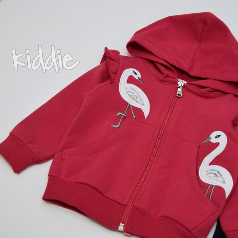 Бебешки комплект Breeze с птица за момиче