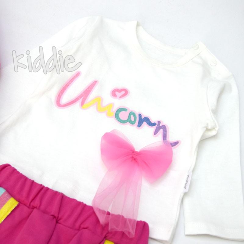 Бебешки комплект Unicorn Mini Face за момиче