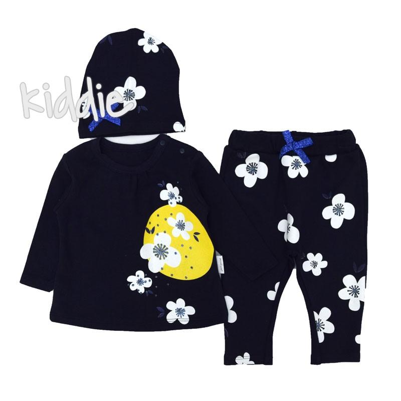 Бебешки комплект с цветя Mini Face за момиче