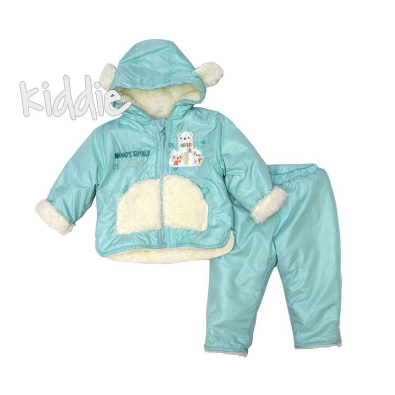 Бебешки комплект Bebessi за момиче с шушляков панталон