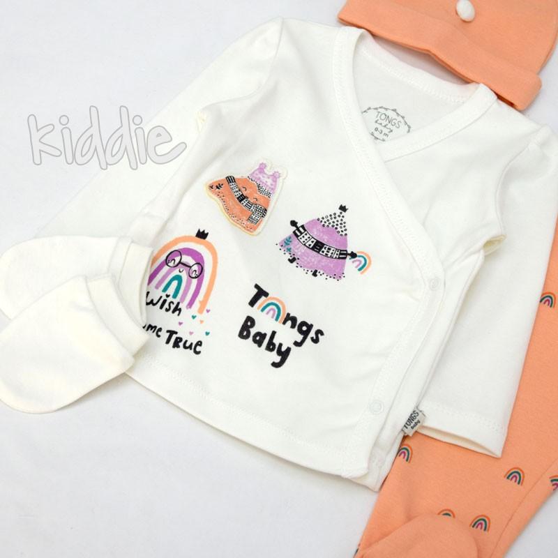 Бебешки комплект 5ч Tongs Baby за момиче