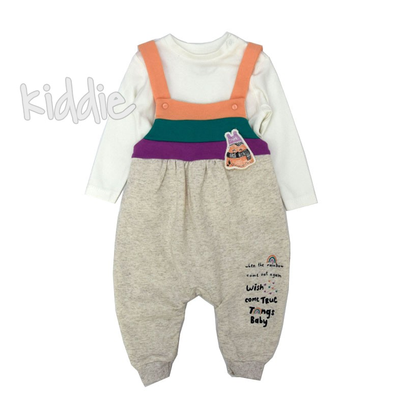 Бебешки гащеризон Tongs Baby за момиче с блуза