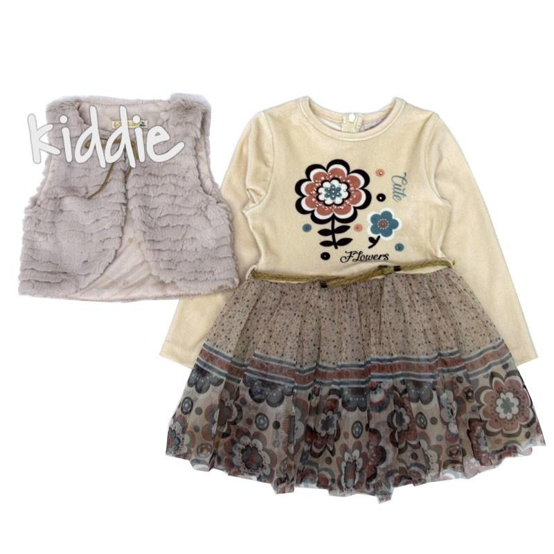 Детска рокля комплект Moonstar за момиче