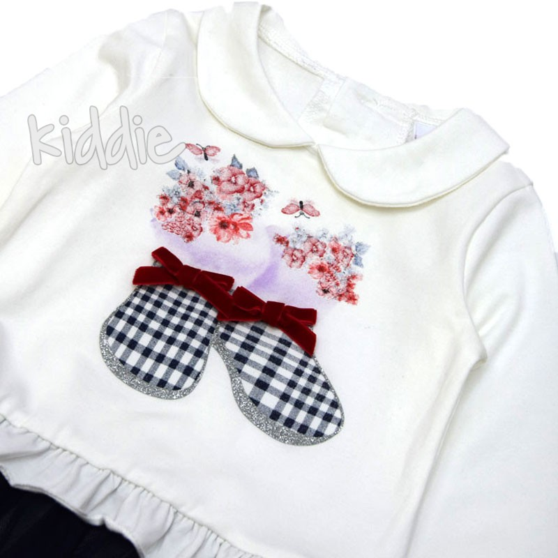 Бебешки комплект Ativo за момиче с тюл
