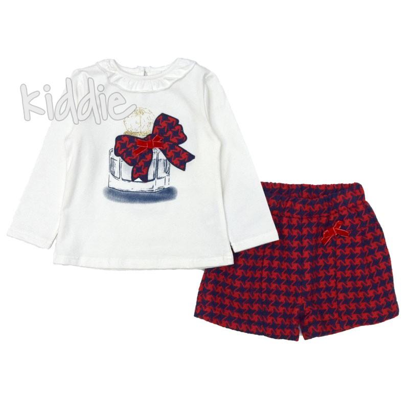 Бебешки комплект Ativo за момиче с къси панталони