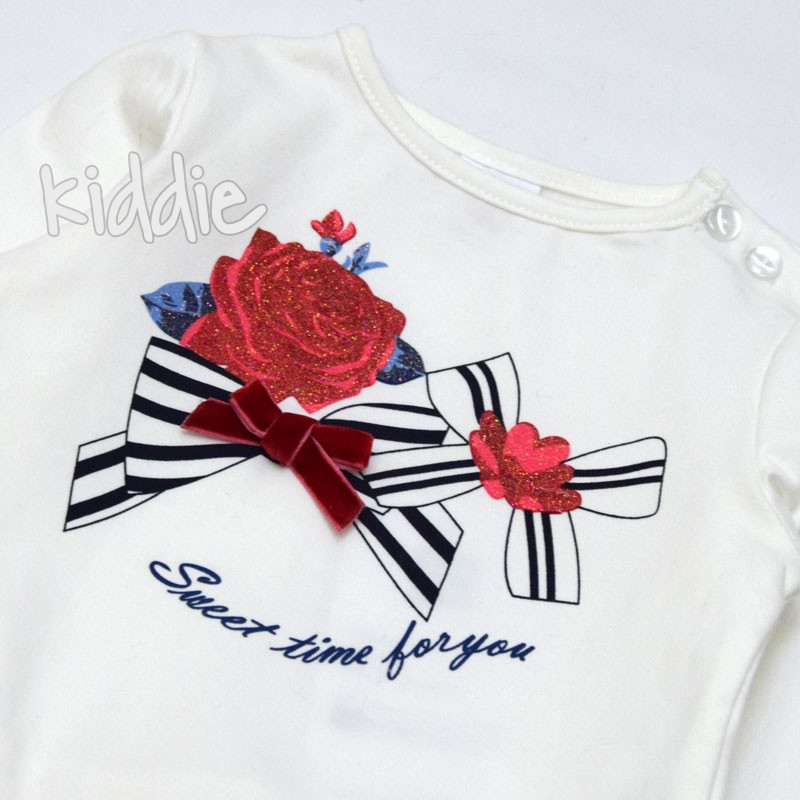 Бебешки комплект Ativo за момиче с панделки