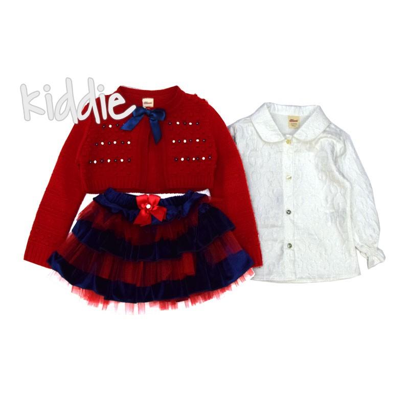 Бебешки комплект Bombili за момиче с жилетка