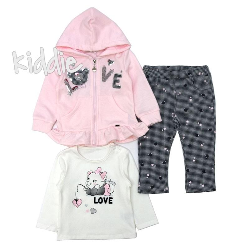 Бебешки комплект Love Repanda за момиче 3ч
