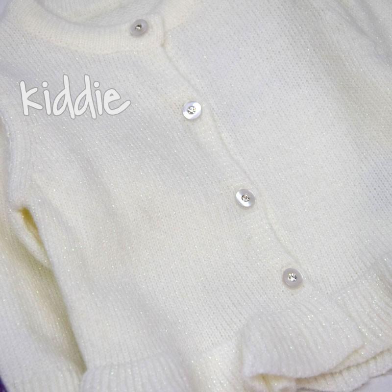 Бебешки комплект с жилетка Gossyp за момиче