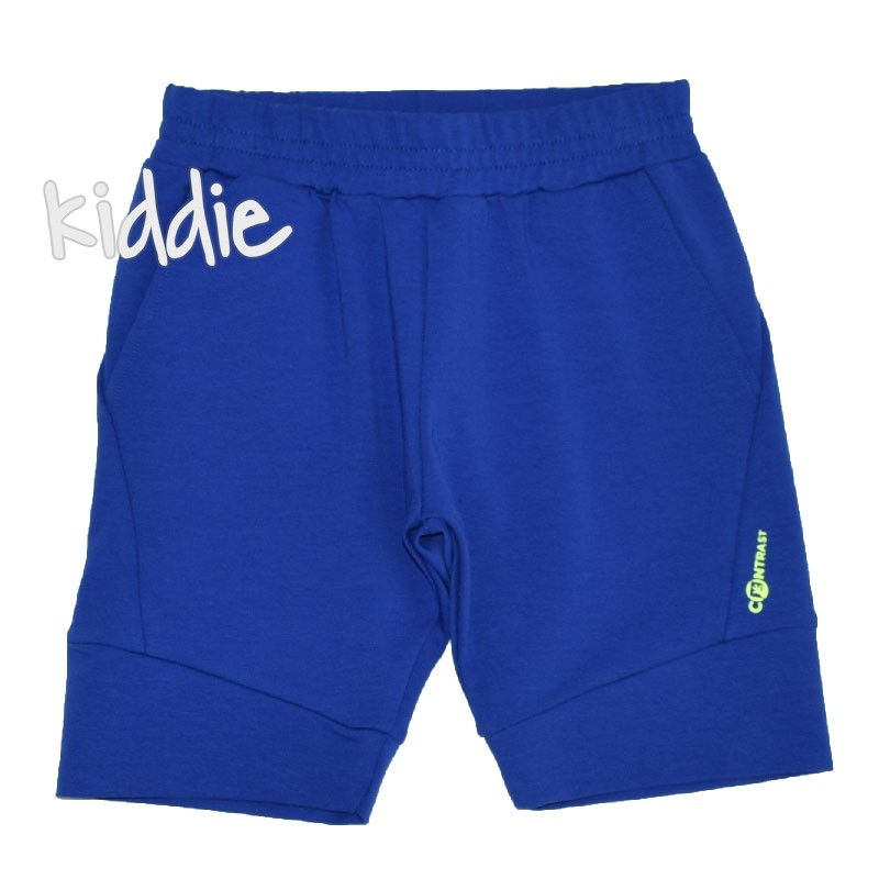 Детски трикотажни къси панталони Contrast за момче