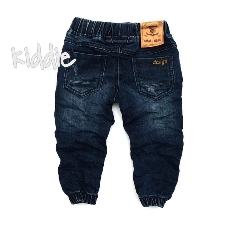 Бебешки дънки за момче на ластик Small gang