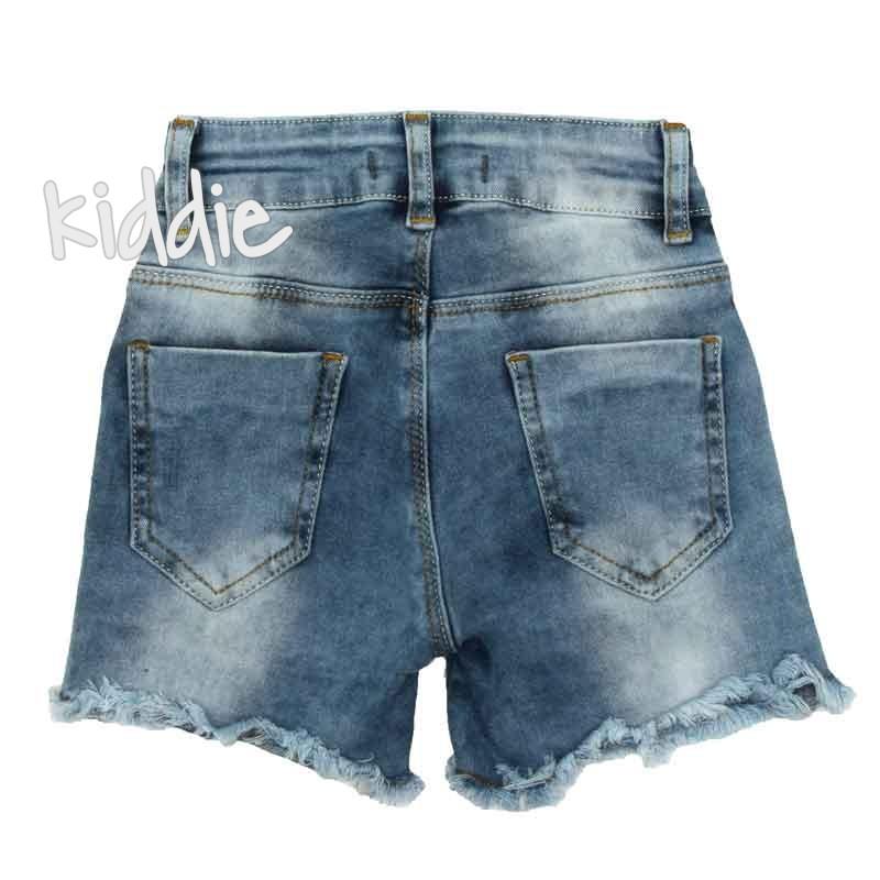 Детски дънкови къси панталони Cichlid за момиче
