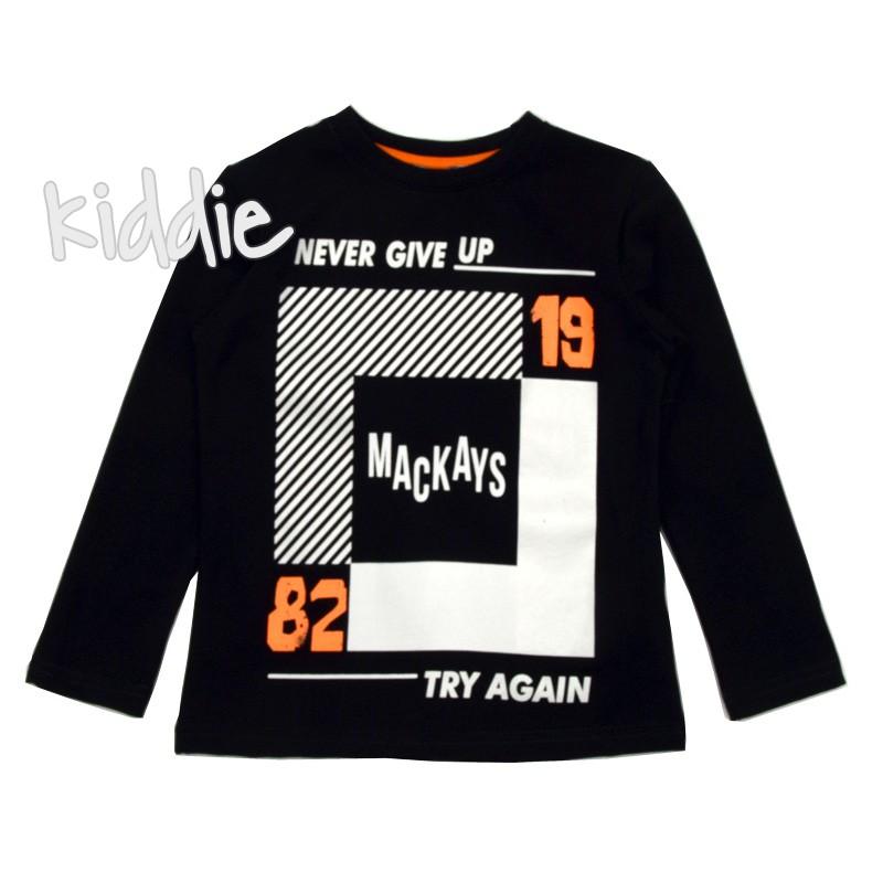 Детска блуза Never Giva Up Mackays за момче
