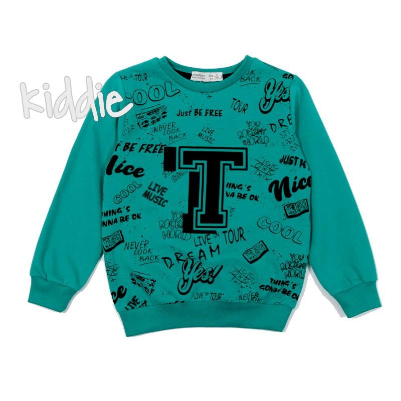 Детска блуза T с надписи за момче