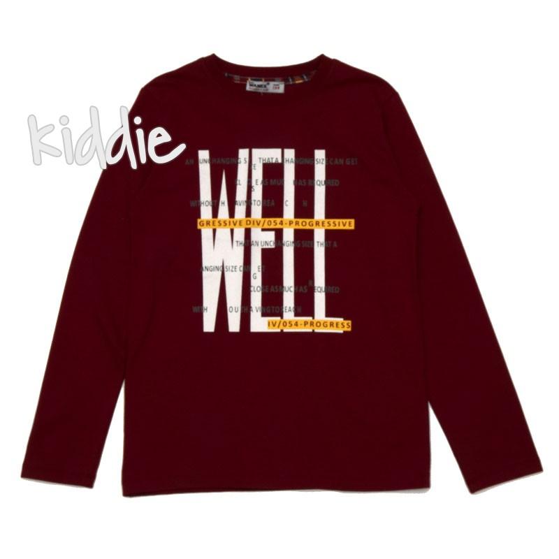 Детска блуза Wanex с надпис Well