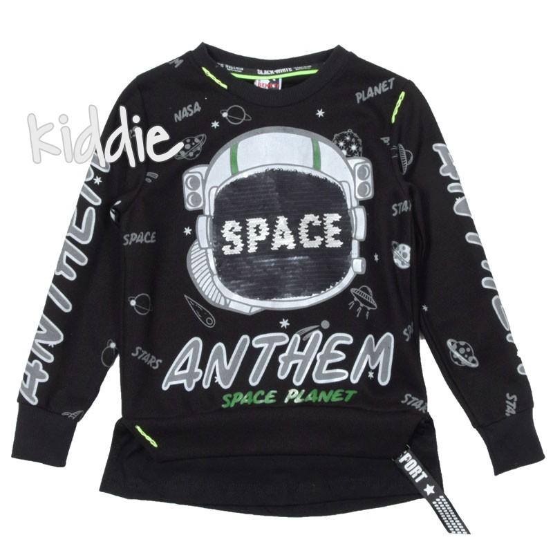 Детска блуза за момче Space с дълъг ръкав