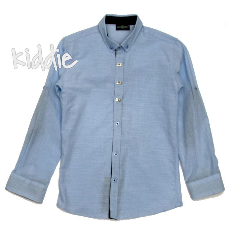 Детска риза за момче с дълъг ръкав
