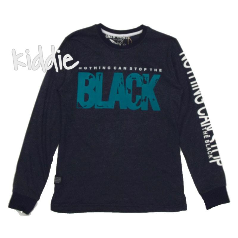 Детска блуза New Points за момче Black