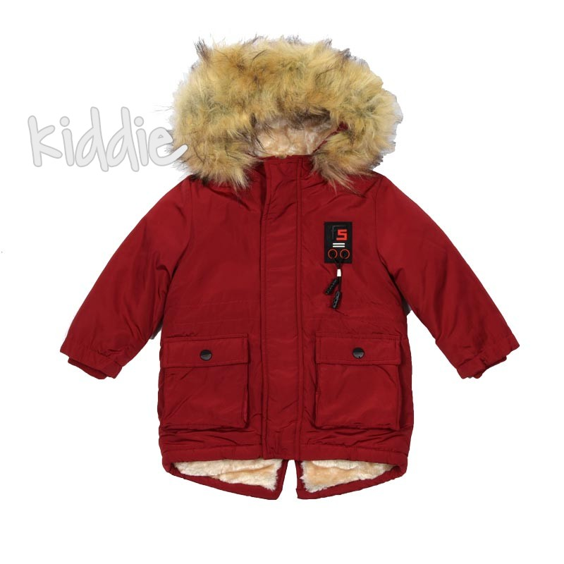 Детско зимно яке Repanda с джобове за момче