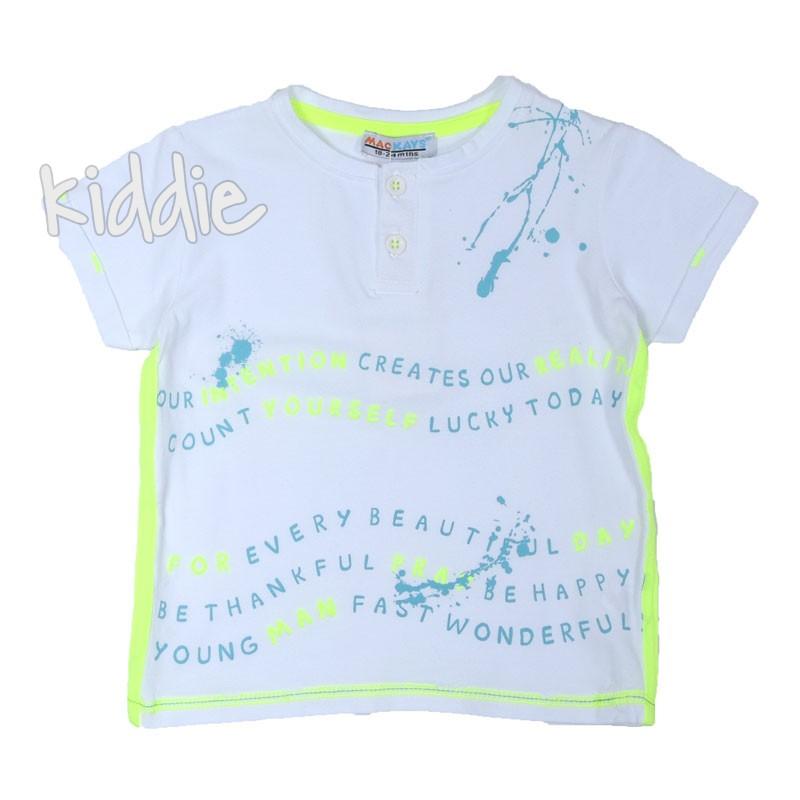 Детска тениска за момче Mackays с копченца