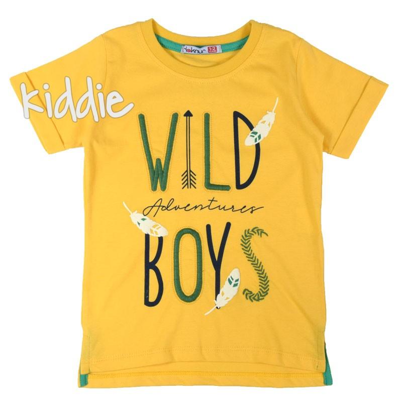 Тениска за момче Wild boy Haknur