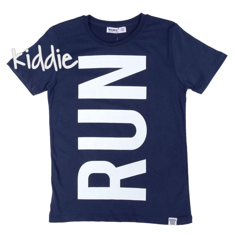 Детска тениска Run Wanex за момче с надпис