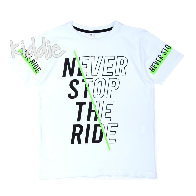 Детска тениска Never Stop the Ride Busen за момче