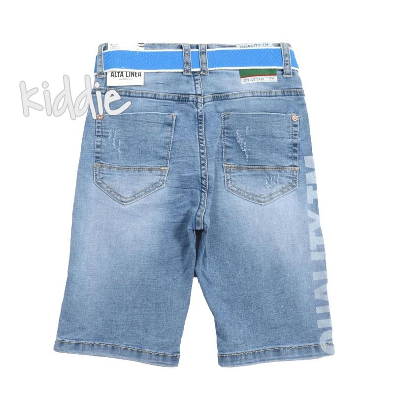 Детски къси панталони за момче с цветен колан